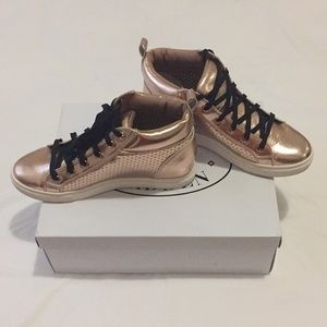 Steve Madden Rose Gold Hightop Sneakers